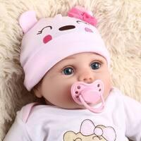 55CM 6PCS/SET Kids Reborn Baby Doll Vinyl Lifelike Newborn Doll Girl Best Gift