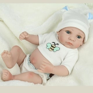 28cm Kids Reborn Baby Doll Washable Soft Vinyl Lifelike Newborn Doll Girl Boy