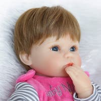 40cm Reborn Baby Simulation Doll Toy Lifelike Girl with Magnetic Mouth