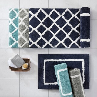Madison Park Renu Reversible High Pile Tufted Microfiber Bath Rug