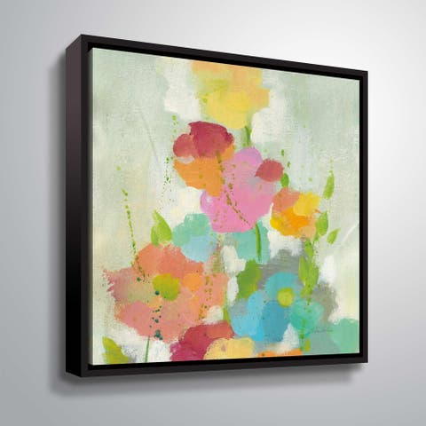 ArtWall's Longstem bouquet I Gallery Wrapped Floater-framed Canvas