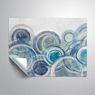 ArtWall's Variation Blue grey pink Removable Wall Art Mural