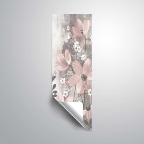 ArtWall's Floral symphony blush gray I Removable Wall Art Mural