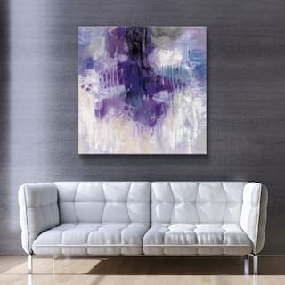 ArtWall's Violet Rain Gallery Wrapped Canvas