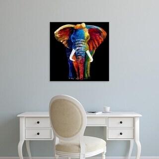 Easy Art Prints Clara Summer's 'Great Elephant' Premium Canvas Art