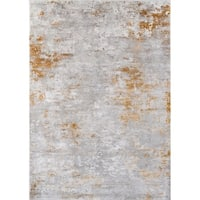 Momeni Cannes Machine Made Tencel Gold Area Rug - 5'3 x 7'6