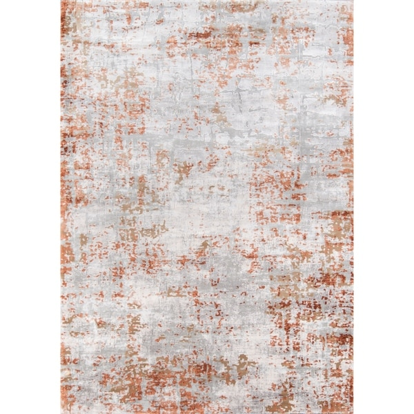 Shop Momeni Cannes Machine Made Tencel Copper Area Rug 5
