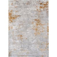 Momeni Cannes Machine Made Tencel Gold Area Rug - 7'10 x 9'10