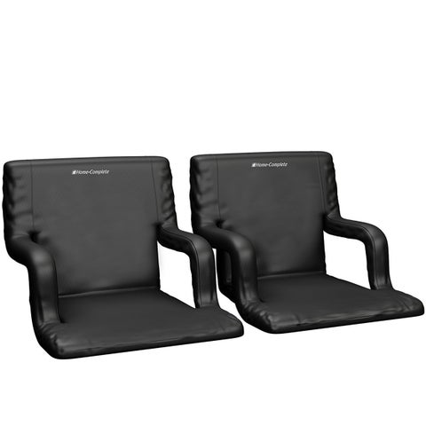 Stadium Seat Chair- Wide Bleacher Cushion with Padded Back Support By Home-Complete - N/A - N/A
