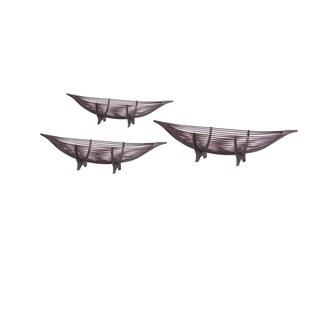 Mahogany Boat Tray set/3.