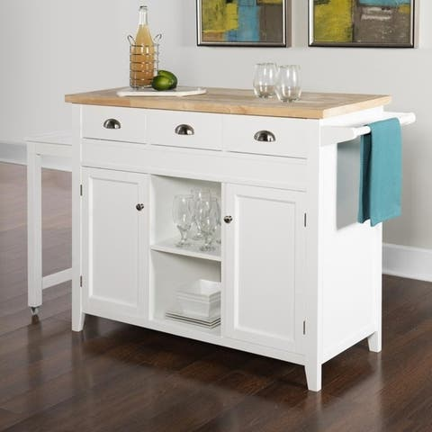 Sheridan Farmhouse Traditional Kitchen Cart