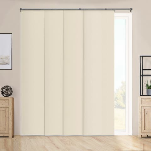 """Chicology Performance Tan Adjustable Sliding Panels - up to 80"""" x 96"""""""