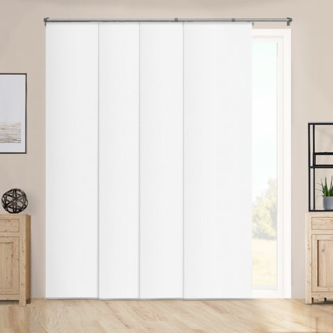 "Chicology Performance White Adjustable Sliding Panels - up to 80"" x 96"""