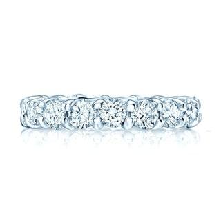 Round Diamond Eternity Band In 18k White Gold Size 10