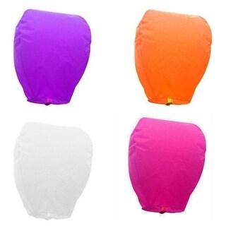 Chinese Fire Paper Wish Lanterns - Set of 4 (pink/purple/white/orange)