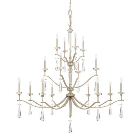 Serena 16-light Winter White Chandelier