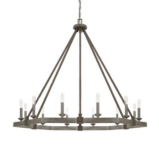 Capital Zac 12-light Urban Grey Chandelier