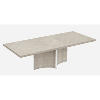 Giorgio Glossy Light Maple Wood Dining Table