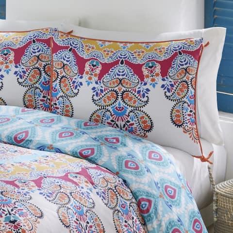 Boho Boutique Gypsy Rose 3 Piece Reversible Comforter Set