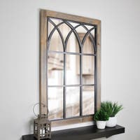FirsTime® Grandview Arched Window Mirror - Antique Brown