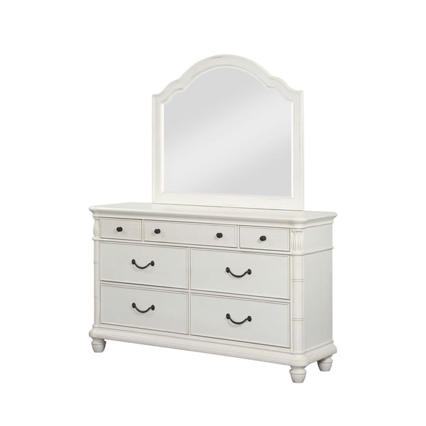 Isle of Palms Antique White Dresser and Mirror by Panama Jack