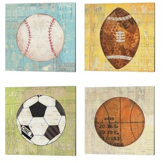 Courtney Prahl 'Play Ball' Canvas Art (Set of 4)