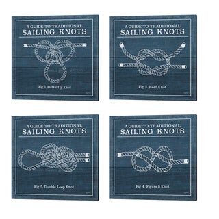 Mary Urban 'Vintage Sailing Knots' Canvas Art (Set of 4)