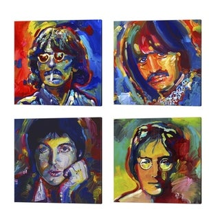 Howie Green 'The Beatles' Canvas Art (Set of 4)