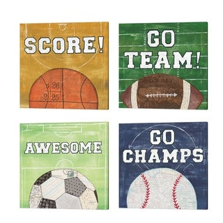 Courtney Prahl 'On the Field' Canvas Art (Set of 4)