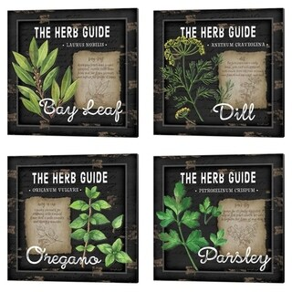 Jennifer Pugh 'Herb Guide' Canvas Art (Set of 4)