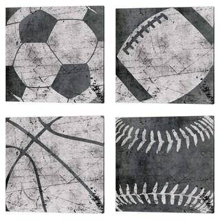 Aubree Perrenoud 'Baseball, Basketball, Football & Soccer' Canvas Art (Set of 4)