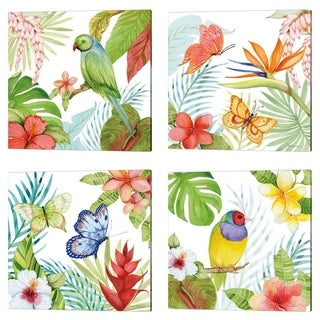 Kathleen Parr McKenna 'Treasures of the Tropics' Canvas Art (Set of 4)