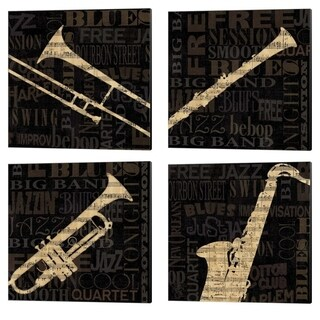 NBL Studio 'Jazzmprov' Canvas Art (Set of 4)