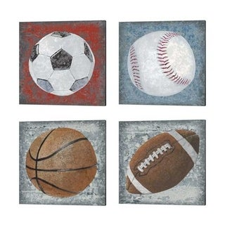 Studio W 'Grunge Sporting' Canvas Art (Set of 4)