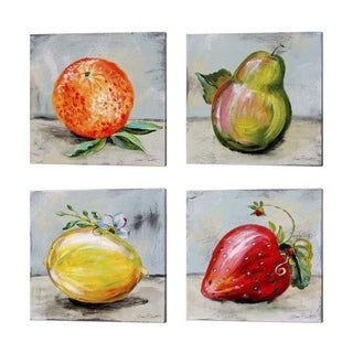 Jean Plout 'Abstract Kitchen Fruit' Canvas Art (Set of 4)