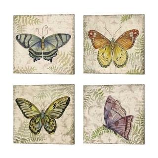 Jean Plout 'Butterfly Daydreams' Canvas Art (Set of 4)