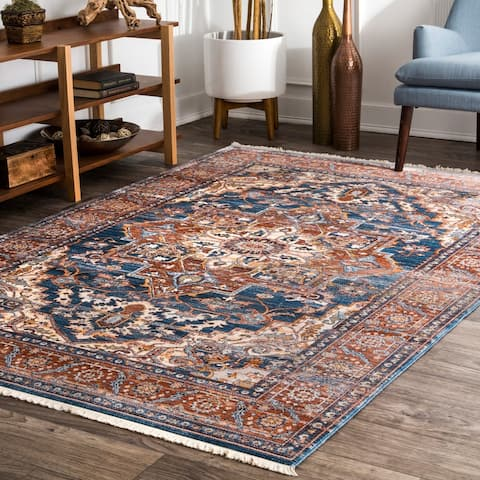 nuLOOM Rust Antique Vintage Oriental Area Rug