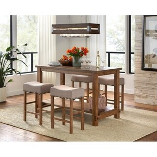 Simple Living Hathaway Nailhead Counter Height Dining Set