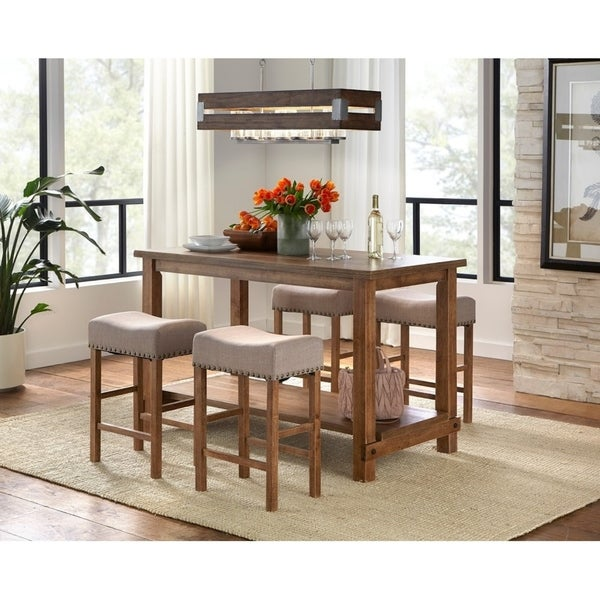 Shop Simple Living Hathaway Nailhead Counter Height Dining