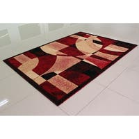 """Rug Tycoon Abstract Modern Contemporary Red Rug - 2'0""""x7'2""""rectangular runner"""