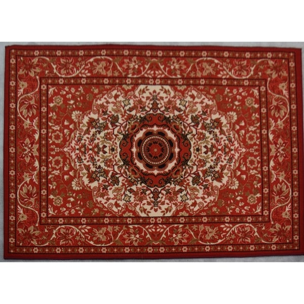 Shop Rug Tycoon Abstract Modern Contemporary Red Rug 7