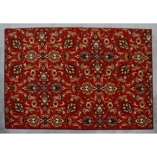"""Rug Tycoon Abstract Modern Contemporary Red Rug - 2'7""""x7'2""""rectangular runner"""