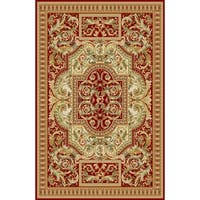 "Rug Tycoon Oriental Traditional Red Rug - 7'11""x9'10""rectangular"