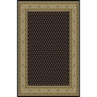 "Rug Tycoon Oriental Traditional Black Rug - 5'3""x7'2""rectangular"