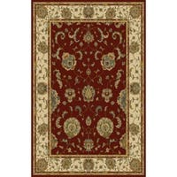 "Rug Tycoon Oriental Traditional Red Rug - 5'3""x7'2""rectangular"