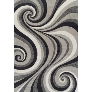 "Rug Tycoon Abstract Modern Contemporary Grey Rug - 5'3""x7'2""rectangular"