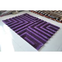 "Rug Tycoon Abstract Modern Contemporary Purple Rug - 7'11""x9'10""rectangular"