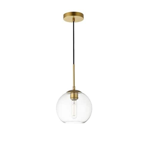 1-Light Pendant with 8 inch Clear Glass