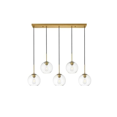 5-Light 42 inch Pendant with Clear Glass