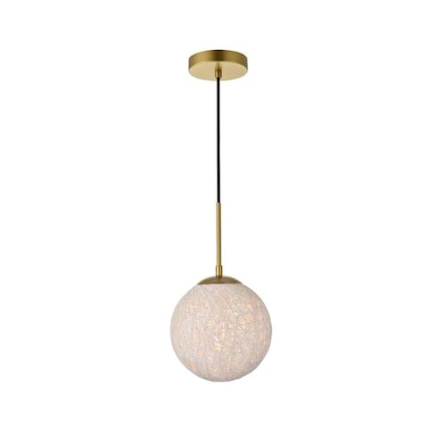 1-Light Pendant with 8 inch Paper String Shade